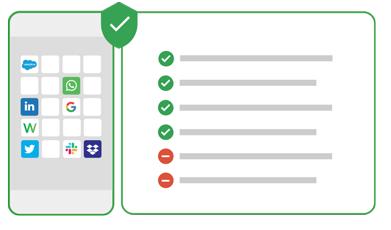 U hoeft niet langer een balans te vinden tussen het beveiligen van uw eigen gegevens en de privacy van uw gebruikers. We beveiligen uw mobiele eindpunten en de toegang tot uw cloud-applicaties. Maar we beschermen ook de privacy van uw gebruikers online en beschermen hen tegen phishing.